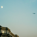 Moon & the plane | 22/10/2011