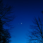 Venus and the Moon over Hyde Park